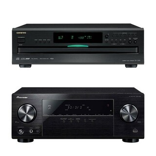 Pioneer VSX-532 5.1-Channel AV Receiver with Onkyo DXC-390 6-Disc CD Changer