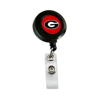 Georgia Bulldogs Retractable Badge Reel Id Ticket Clip NCAA