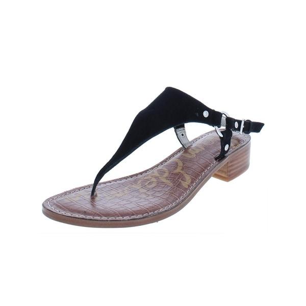 321ee7ac7 Shop Sam Edelman Womens Jude T-Strap Sandals Suede Thong - 7 Medium ...