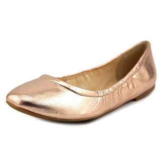 Nine West Girlsnite Women Round Toe Leather Pink Flats