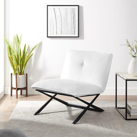 Corvus Soloway Velvet Upholstery Accent Slipper Lounge Chair