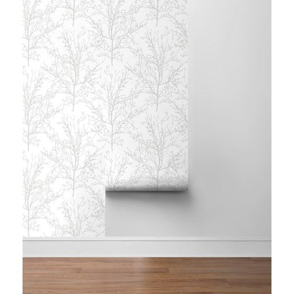 Pittsburg%2C Tree Branches 18%27 x 20.5%22 Peel %26 Stick Wallpaper Roll