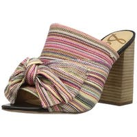 Sam Edelman Womens Yumi Fabric Open Toe Mules