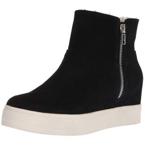Steve Madden Womens Wanda Leather Hight Top Zipper Fashion Sneakers
