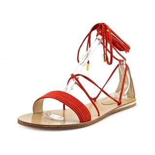 Vince Camuto Valtina Women Open Toe Leather Orange Gladiator Sandal