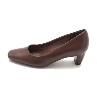 Easy Spirit Womens Keynotes Leather Square Toe Classic Pumps