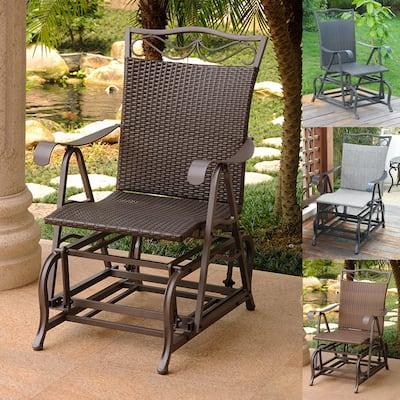 International Caravan Valencia Resin Wicker Glider Chair