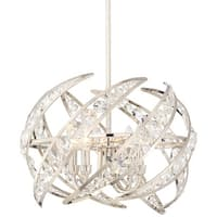 """Platinum PCCN2818 Crescent 4 Light 18"""" Wide Pendant with Clear Glass - Polished Nickel"""
