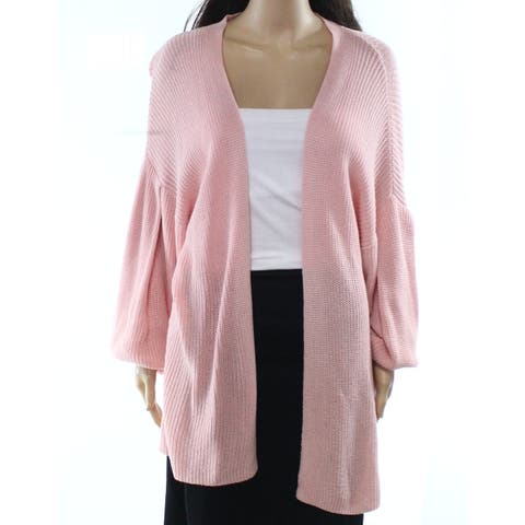 Abound Pink Womens Size Medium M Bell-Sleeve Cardigan Sweater