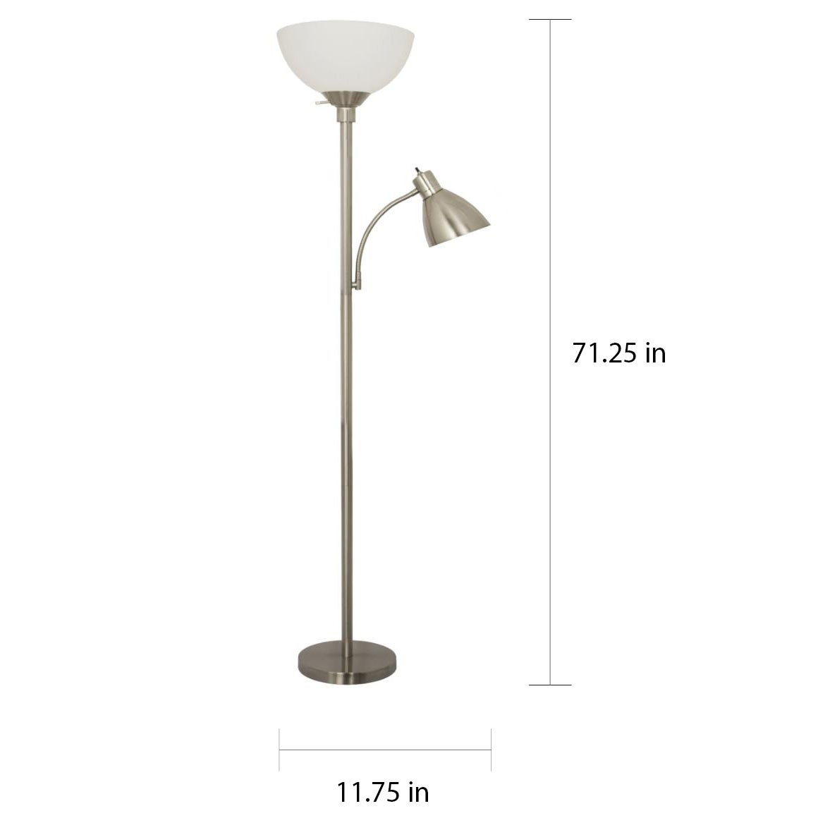Floor Lamp With Side Reading Light