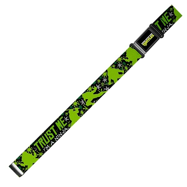 New Series Tmnt Logo Full Color Trust Me I'M A Ninja New Series Turtle Magnetic Web Belt - S