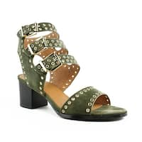 Sol Sana Womens Sweet Pea Heel Black Ankle Strap Sandals Size 9