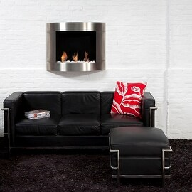 Bio Blaze BB-D1I Diamond Type 1 Wall Mount Fire Place, Stainless