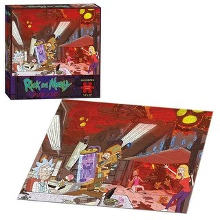USAopoly Rick & Morty Puzzle (550 Piece) - multi