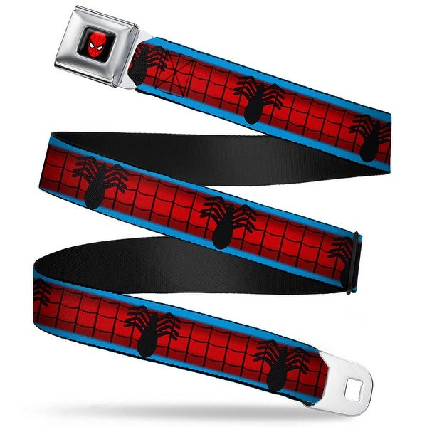 Marvel Universe Spider Man Full Color Spider Man Costume Stripe Blue Red Seatbelt Belt