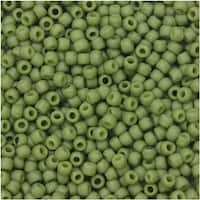 Toho Seed Beads, Round 11/0 Semi Glazed, 8 Gram Tube, Honeydew