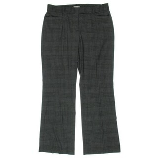 Tahari ASL Womens Dress Pants Twill Plaid