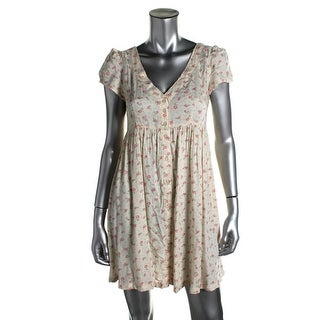 Denim & Supply Ralph Lauren Womens Floral Print Cap Sleeves Babydoll Dress - XS