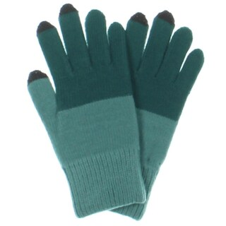 Verloop Winter Gloves Colorblock Touch Screen - o/s (Option: Green)