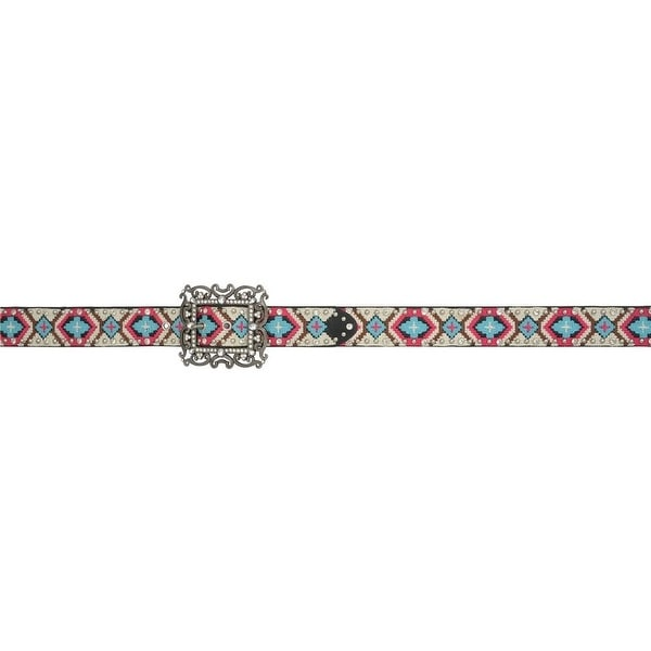 Angel Ranch Western Belt Womens Aztec Studs Crystals Multi-Color