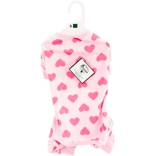 Pink Extra Extra Small - Fashion Pet Heart Fleece Pjs