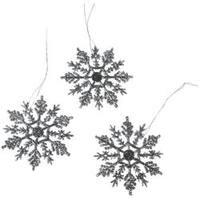 "Silver - Glitter Snowflake 4"" 10/Pkg"
