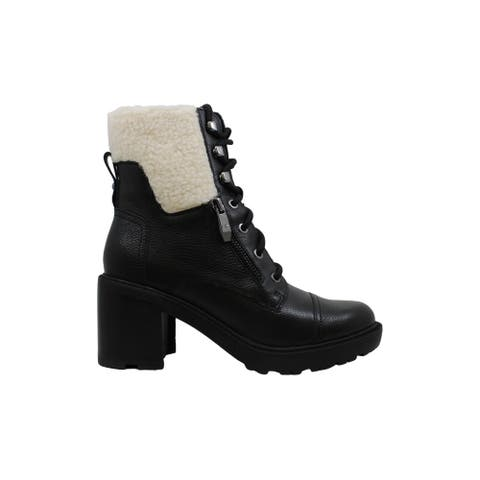 Marc Fisher Womens Lansly Leather Round Toe Ankle Fashion Boots