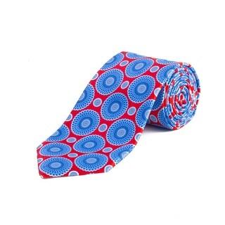 Ermenegildo Zegna Men's Silk Medallion Paisley Tie Red - no size