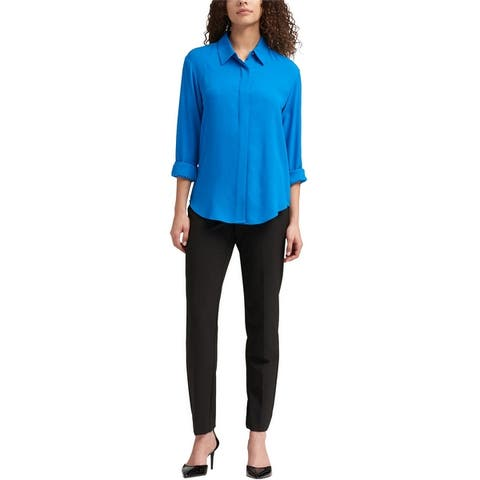 Dkny Womens Foundation Button Up Shirt