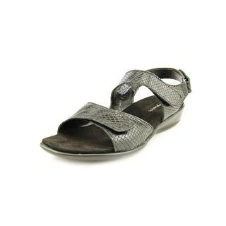 Easy Spirit Hartwell W Open-Toe Leather Slingback Sandal