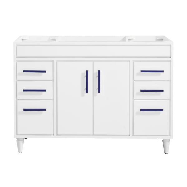 "Avanity LAYLA-V48 Layla 48"" Single Free Standing Wood Vanity Cabinet Only - White"
