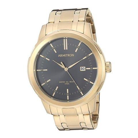 Armitron Men's 45mm Date Function Gold-Tone Bracelet Watch