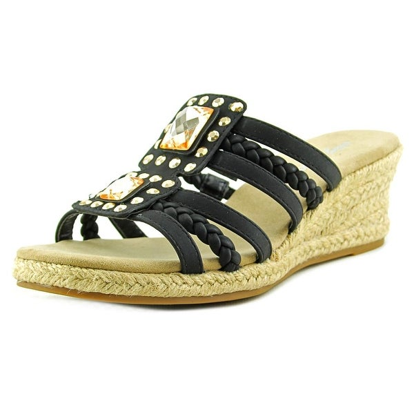 Easy Street Bazinga Women WW Open Toe Synthetic Wedge Sandal