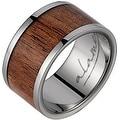 Titanium Wedding Band With Koa Wood Inlay 12 mm - Thumbnail 0