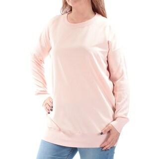 RALPH LAUREN $125 Womens New 1143 Pink Long Sleeve Jewel Neck Sweater S B+B
