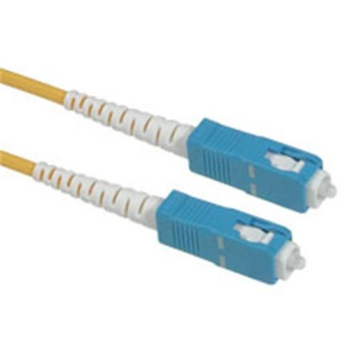 7m SC-SC SIMPLEX 9-125 SINGLE-MODE FIBER PATCH CABLE - YELLOW