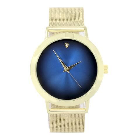 Men's Simple Slim Stainless Steel Round Dial Mesh Band sleek designer Wrist Watches - 4904