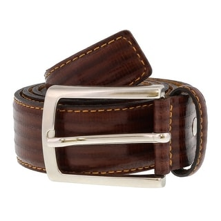 Renato Balestra Y782 MARRONE Brown Leather Mens Belt