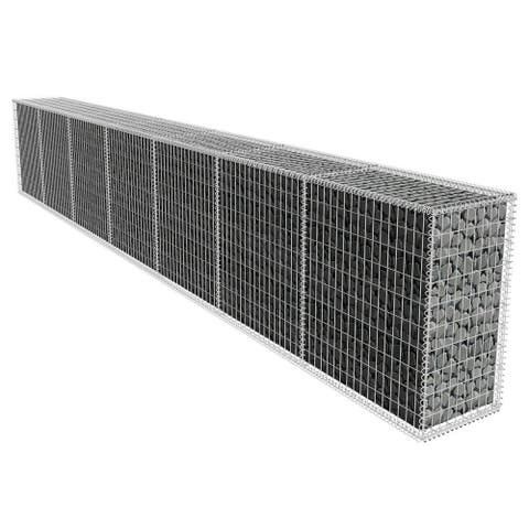 vidaXL Gabion Wall with Cover 19.7'x1.6'x3.3'
