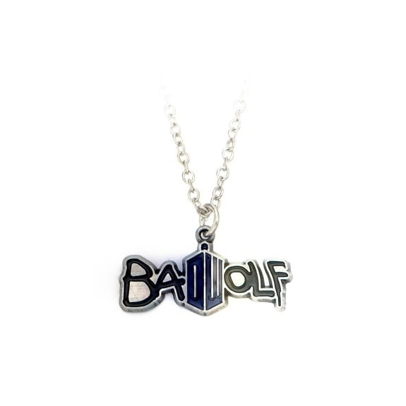 Dr. Who Bad Wolf Necklace - Silver