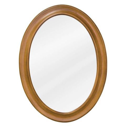 Elements MIR060 Clairemont Collection Oval 23-3/4 x 31-1/2 Inch Bathroom Vanity Mirror - warm carmel - N/A