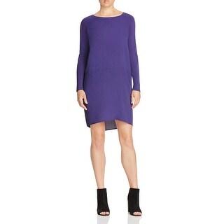 Eileen Fisher Womens Petites Casual Dress Silk Long Sleeve