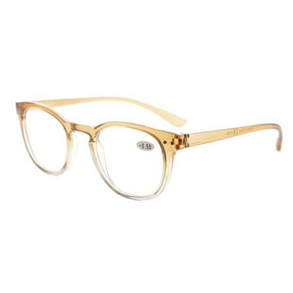 Eyekepper Fashion Readers Womens Reading Glasses (Brown-Clear Frame, +3.00)