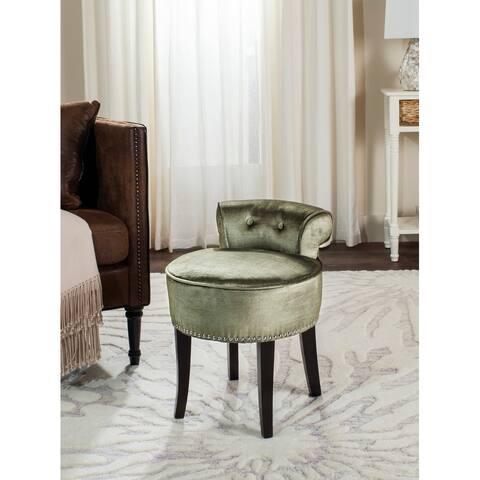 "Safavieh Georgia Light Sage Vanity Chair - 17.9"" W x 19"" L x 22.8"" H"