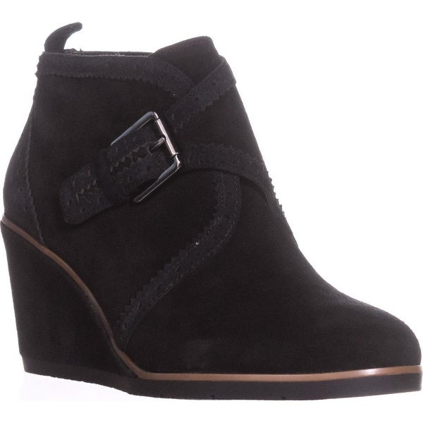 Franco Sarto Arielle Wedge Ankle Booties, Black