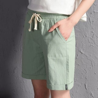 Women Hot Short Fashion Women's Linen Shorts Casual Shorts