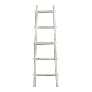 Screen Gems SGT086 WHITE Wooden Ladder - White