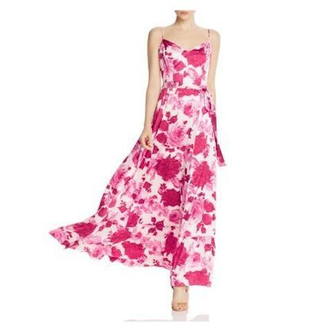 BETSEY JOHNSON Pink Spaghetti Strap Maxi Sheath Dress Size 8