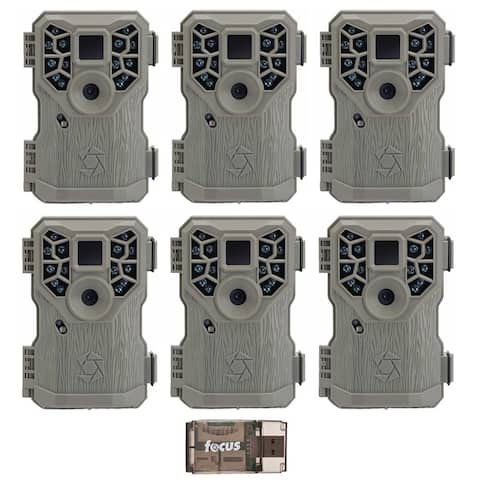 Stealth Cam PX14X P Digital Scouting Trail Game Camera (6) with Reader