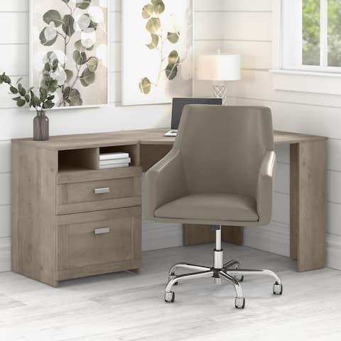 Wheaton 60W Reversible Corner Desk and Chair Set by Bush Furniture